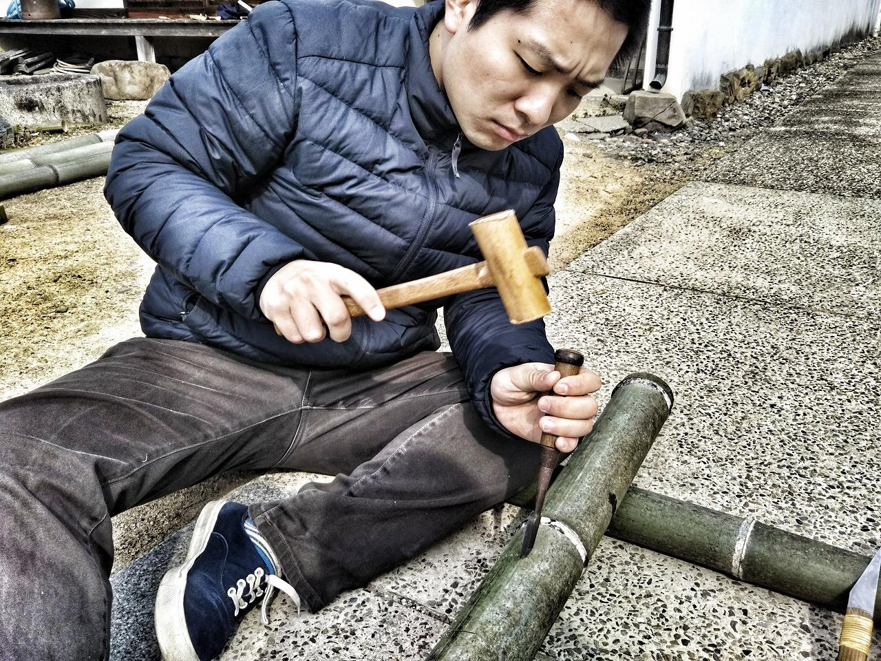 竹花入れ作り
